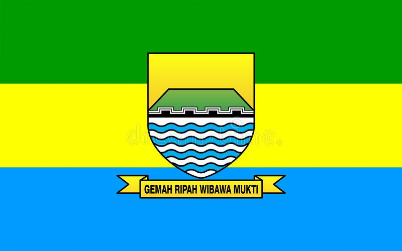Bandeira de Bandung, Indonésia ilustração stock