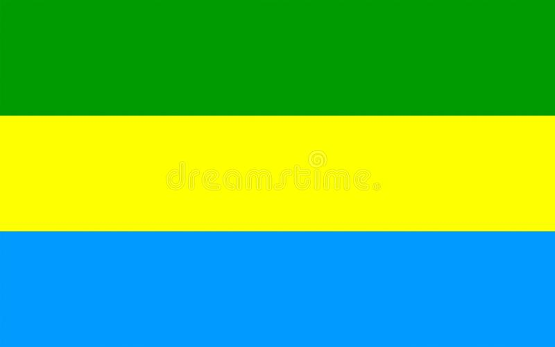 Bandeira de Bandung, Indonésia imagem de stock