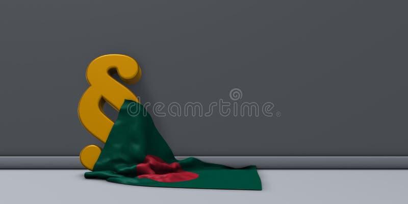 Bandeira de bangladesh e de símbolo do parágrafo imagem de stock royalty free