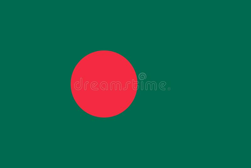 Bandeira de Bangladesh original e simples ilustração stock