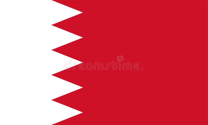 A bandeira de Barém ilustração do vetor