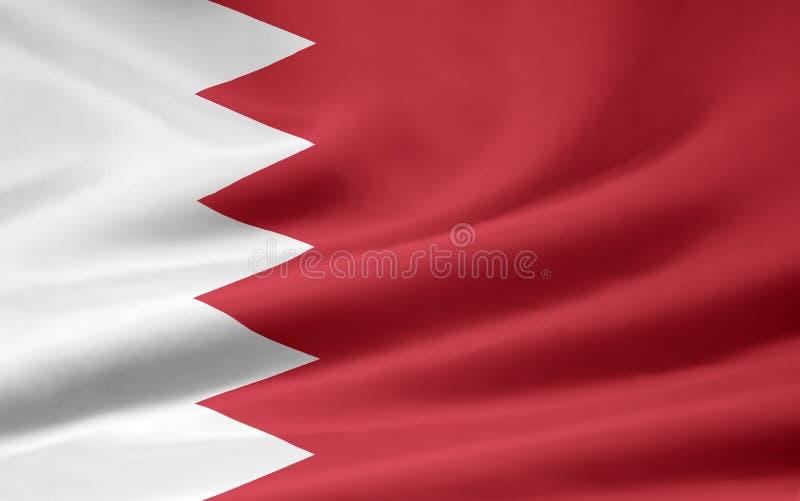 Bandeira de Barém ilustração stock