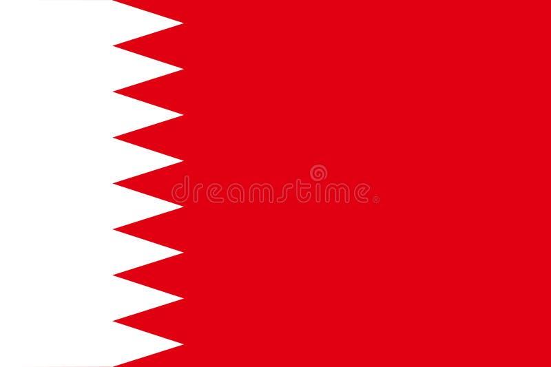 Bandeira de Barém ilustração do vetor