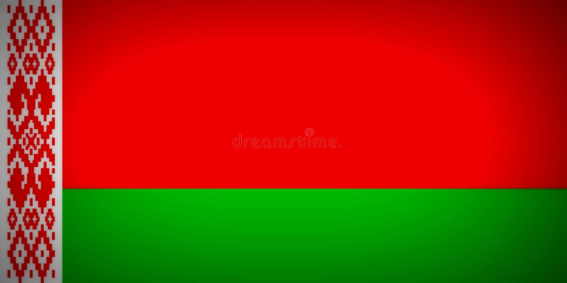 Bandeira de Belarus ilustração royalty free