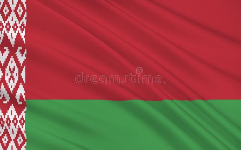 Bandeira de Belarus ilustração stock