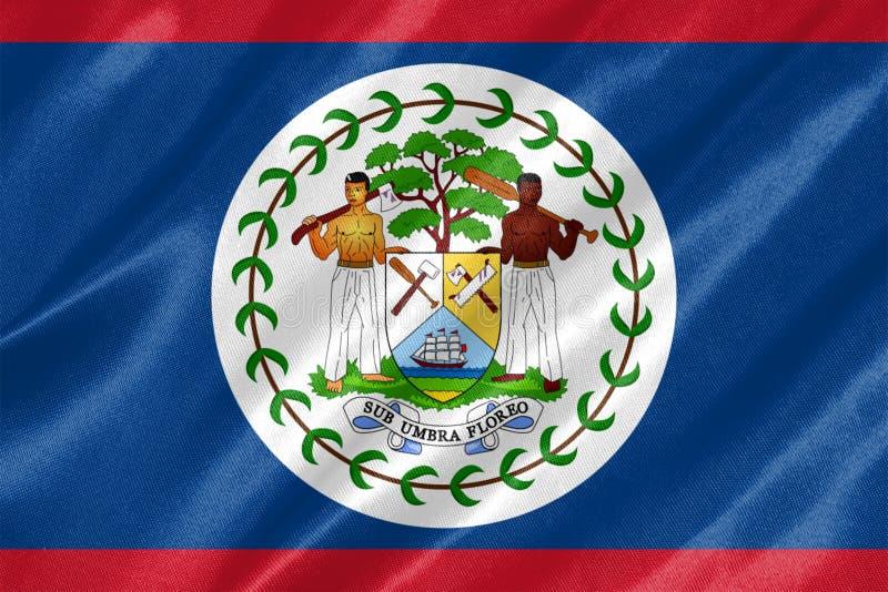 Bandeira de Belize ilustração royalty free