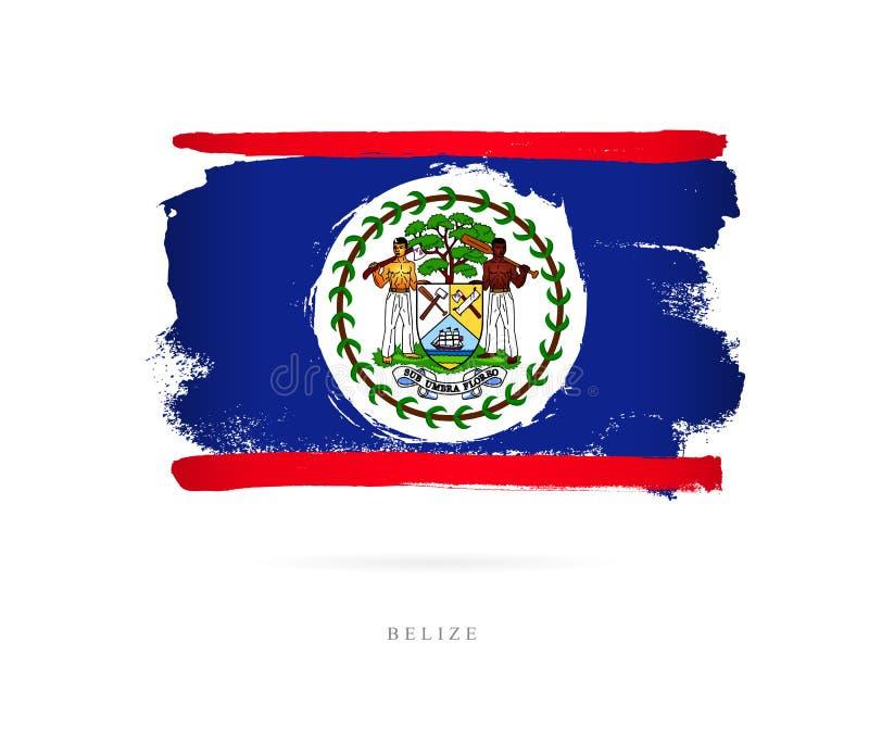 Bandeira de Belize Conceito abstrato ilustração stock