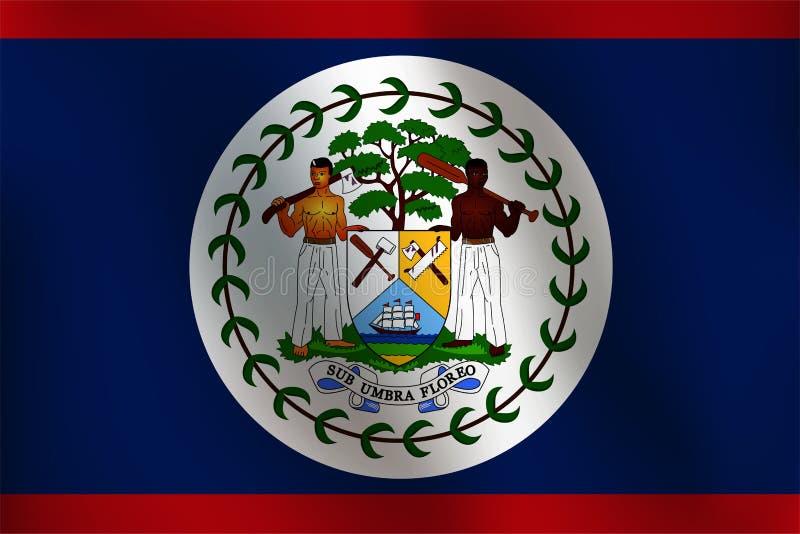 Bandeira de Belize - ilustração do vetor ilustração royalty free