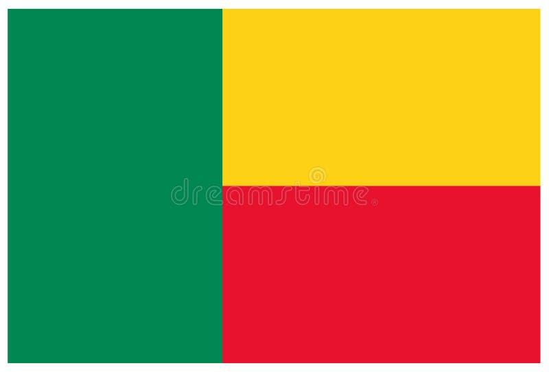 Bandeira de Benin - bandeira, África, país ilustração stock
