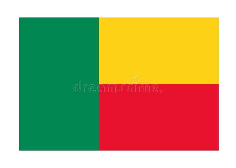 Bandeira de benin ilustração stock
