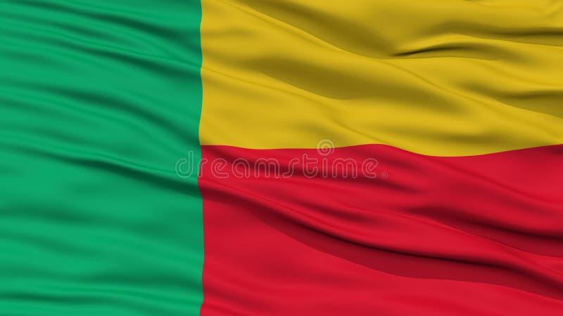 Bandeira de Benin do close up ilustração do vetor