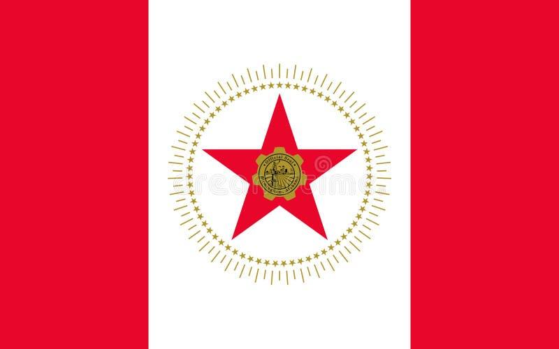 Bandeira de Birmingham, Alabama, EUA foto de stock