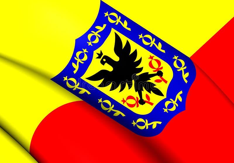 Bandeira de Bogotá, Colômbia ilustração do vetor