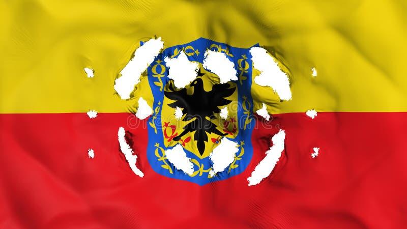 Bandeira de Bogotá com furos pequenos ilustração do vetor