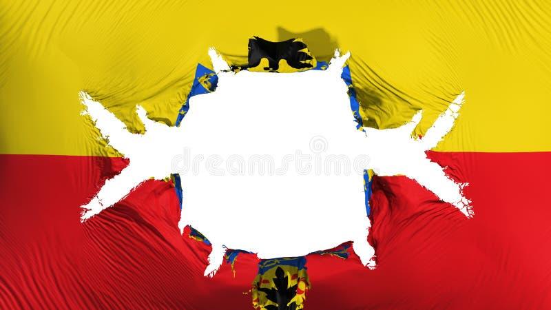 Bandeira de Bogotá com um furo grande ilustração do vetor