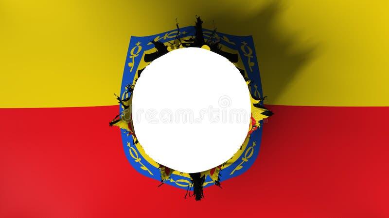Bandeira de Bogotá rasgada distante ilustração stock
