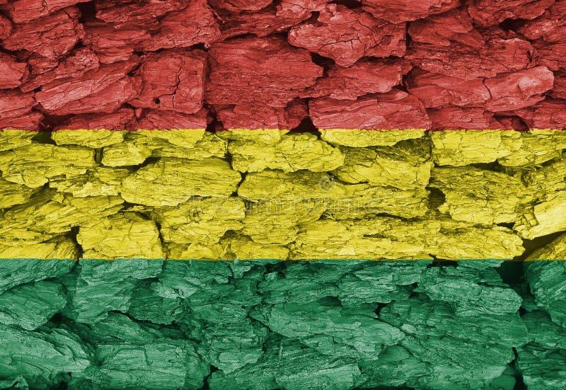 Bandeira de Bolívia foto de stock