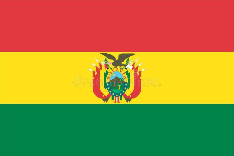 bandeira de Bolívia ilustração stock