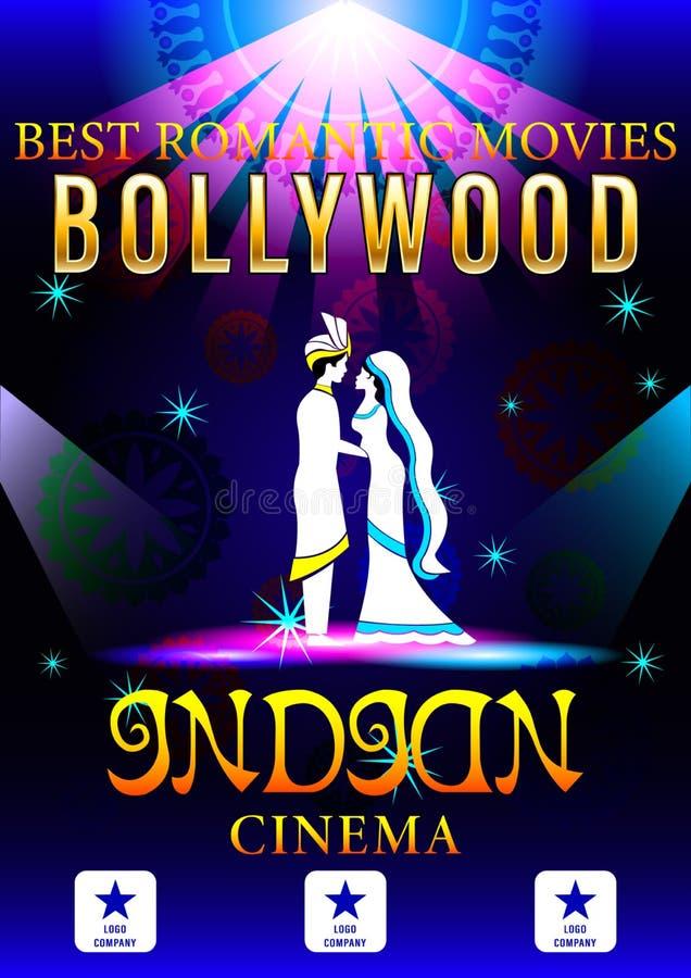 Bandeira de Bollywood romântica ilustração do vetor