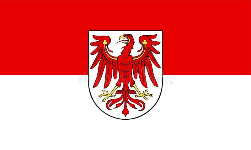 Bandeira de Brandemburgo ilustração royalty free