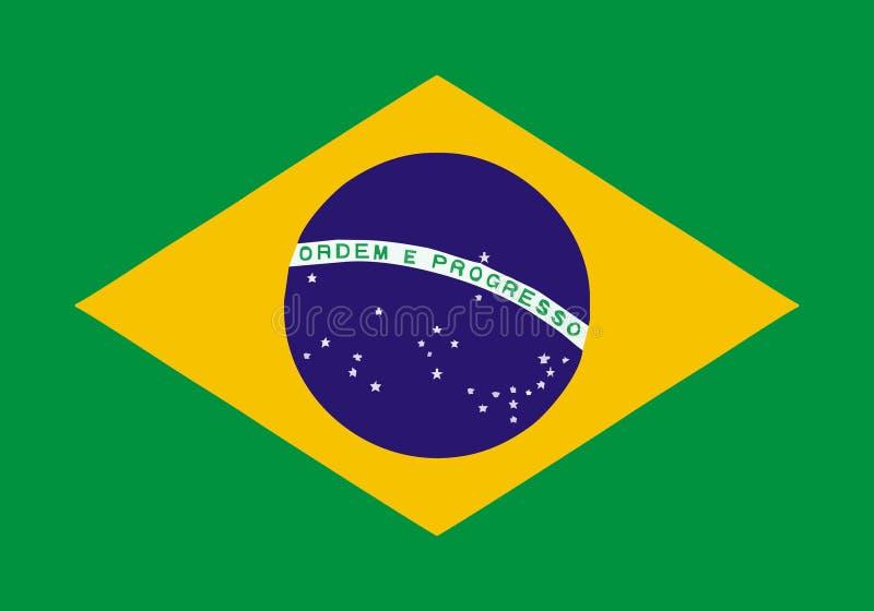 Bandeira de Brasil ilustração do vetor