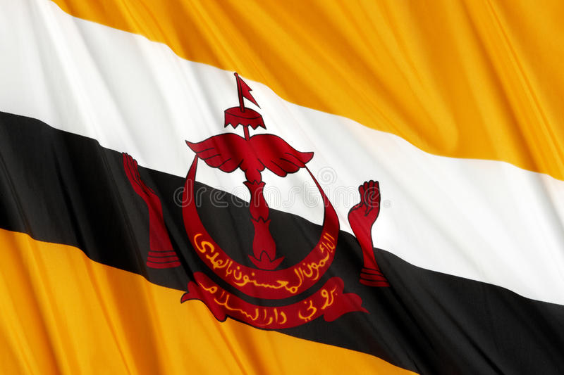 Bandeira de Brunei fotos de stock royalty free