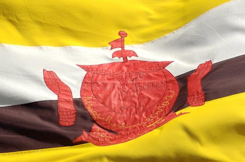 Bandeira de Brunei imagens de stock