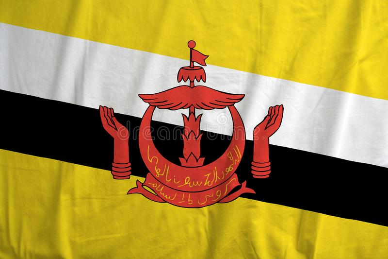 Bandeira de Brunei Darussalam foto de stock