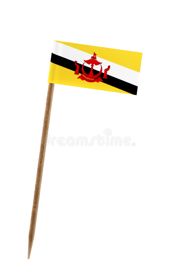 Bandeira de Brunei Darussalam imagens de stock royalty free