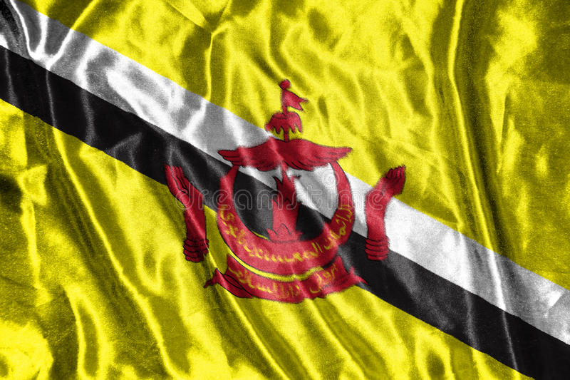 Bandeira de Brunei Darussalam Darussalam bandeira no fundo fotos de stock royalty free