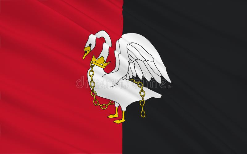 A bandeira de Buckinghamshire é um condado cerimonial, Inglaterra ilustração do vetor