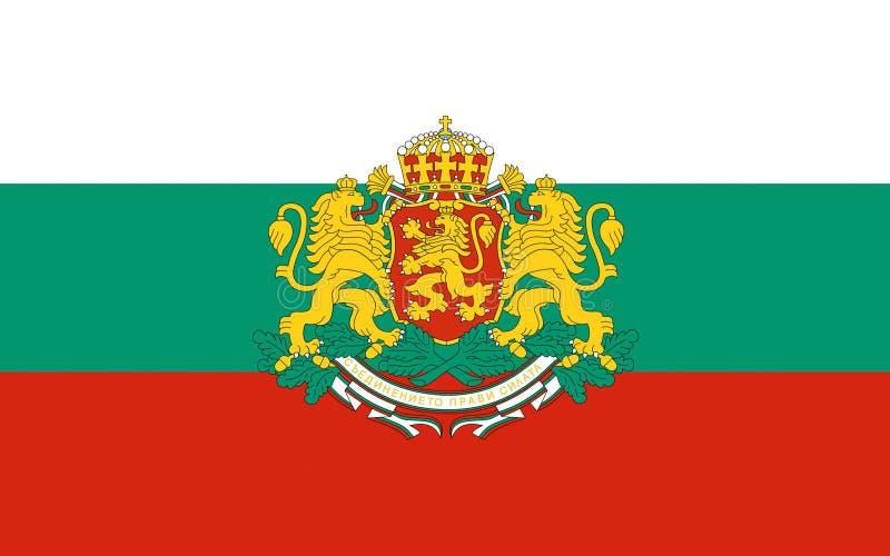 Bandeira de Bulgária imagens de stock