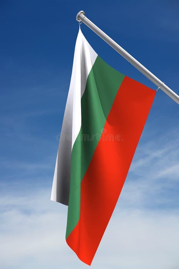 Bandeira de Bulgária fotografia de stock royalty free