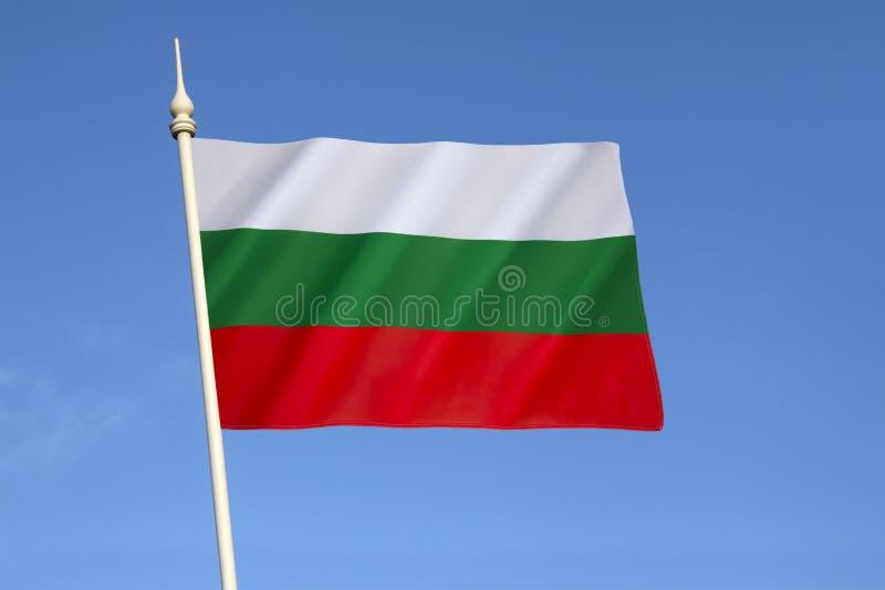 Bandeira de Bulgária foto de stock