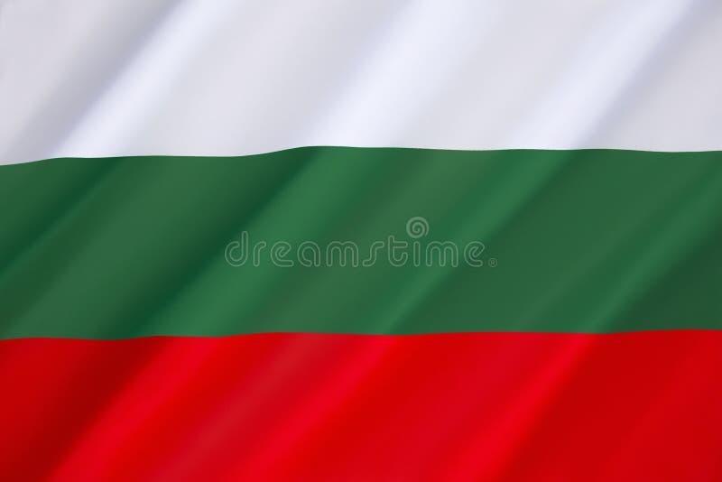 Bandeira de Bulgária fotos de stock