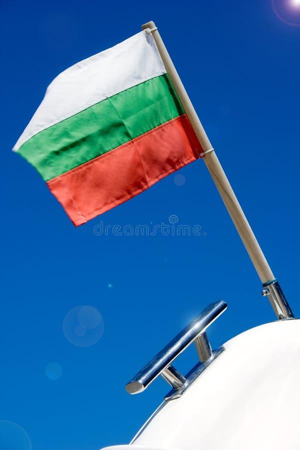 Bandeira de Bulgária foto de stock royalty free