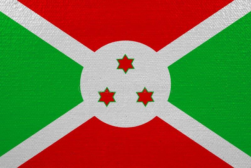 Bandeira de Burundi na lona ilustração do vetor