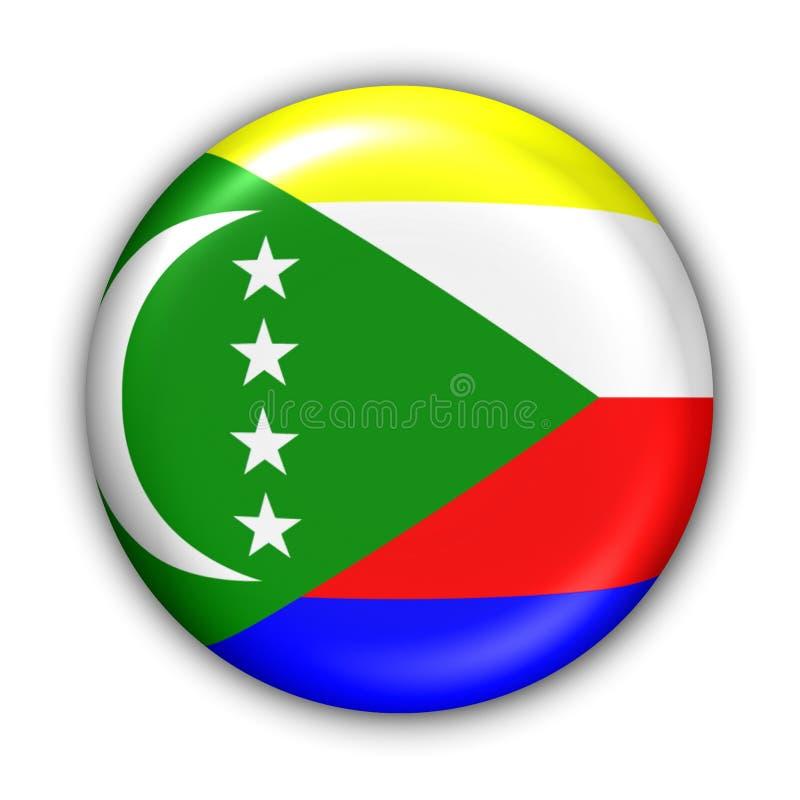 Bandeira de Cômoros ilustração royalty free