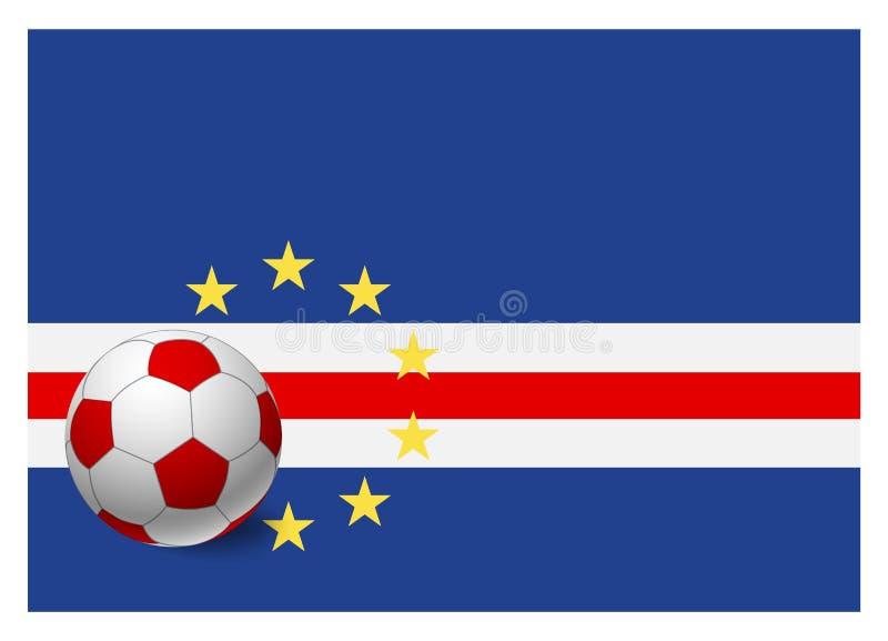 Bandeira de Cabo Verde e bola de futebol ilustração do vetor