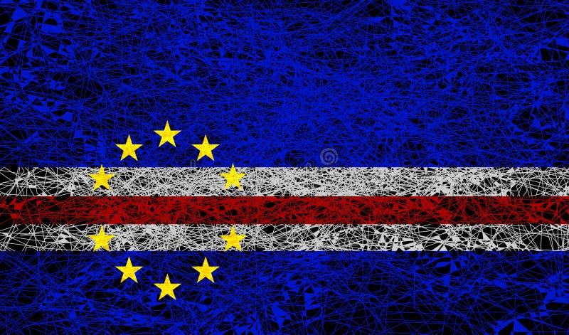 Bandeira de Cabo Verde ilustração do vetor