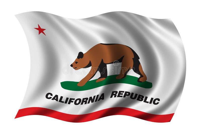 Bandeira de Califórnia ilustração do vetor
