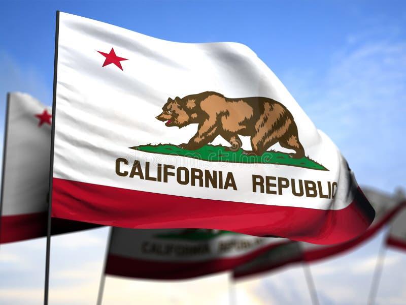 Bandeira de Califórnia ilustração stock