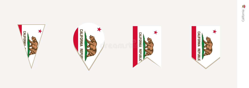 Bandeira de Califórnia no projeto vertical, ilustração do vetor ilustração do vetor
