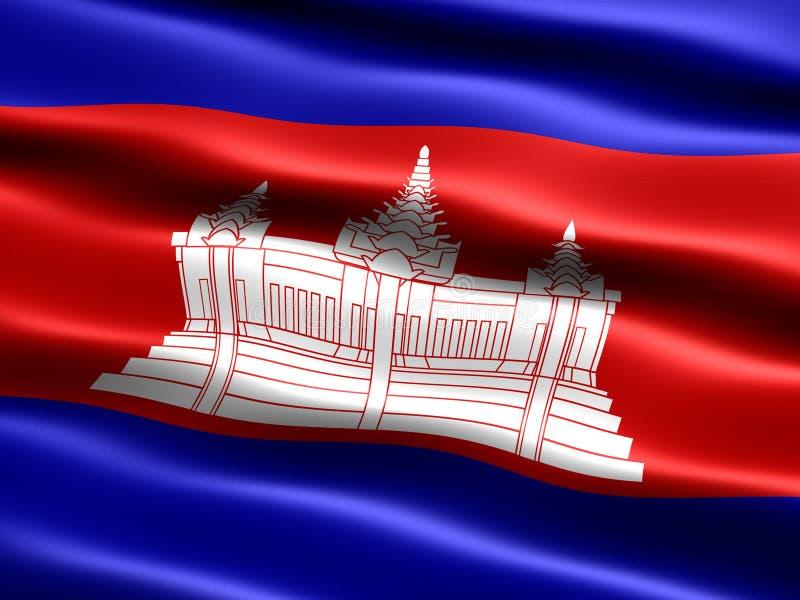 Bandeira de Cambodia ilustração stock