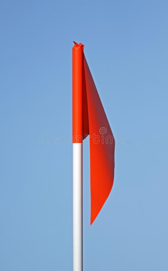 Bandeira de canto do futebol fotos de stock