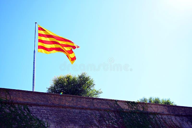 Bandeira de Catalonia foto de stock royalty free
