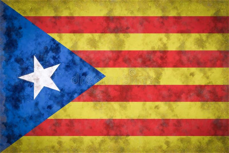 Bandeira de Catalonia da independência ilustração stock