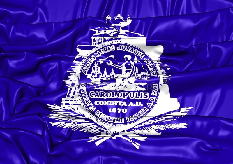Bandeira de Charleston City South Carolina, EUA ilustração royalty free