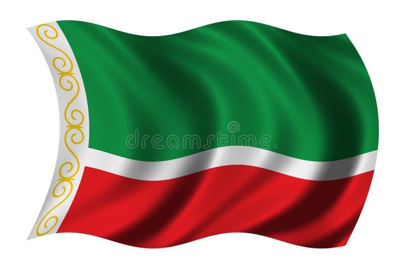 Bandeira de Chechnya ilustração do vetor
