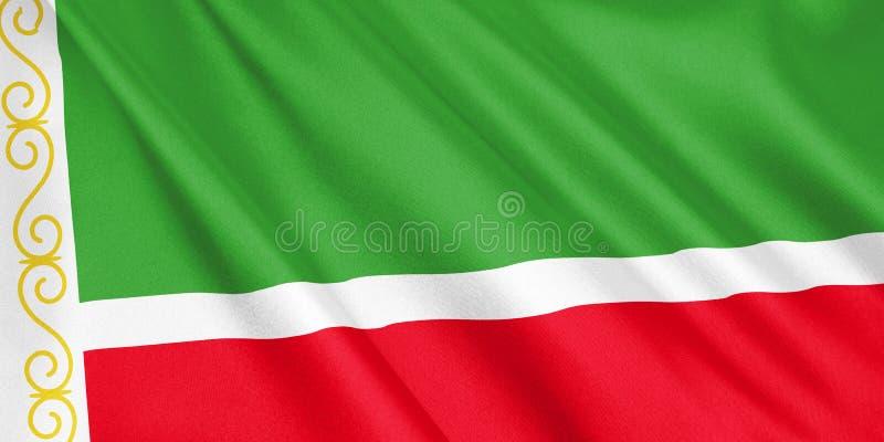 Bandeira de Chechnya que acena com o vento ilustração stock